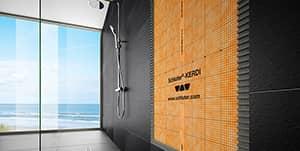 moulures, membranes, panneaux de douche